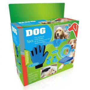 Kit de toilettage 5 pièces Tuyau 250 cm, 2, 1gant, 1 serviette Pour chien