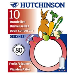 Hutchinson 10 joints à bocaux 2 nez Universel (56 x 80 mm)
