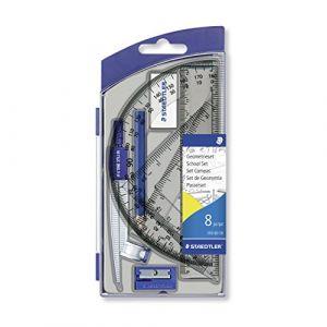 Staedtler Noris Club 550 - Set Scolaire 1 Compas Scolaire de Précision avec Attache-Compas Universelle Intégrée Accessoires
