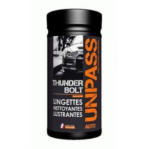 Unpass Boite de 80 lingettes nettoyantes lustrantes - Thunder Bolt
