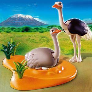 Playmobil 4831 - Couple d'autruches et nid