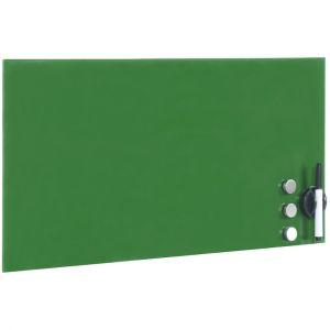 wiltec Tableau magnétique en verre Mémo board Vert Tableau aide-mémoire 30x50cm