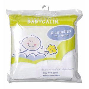 Babycalin 6 couches lavables en coton