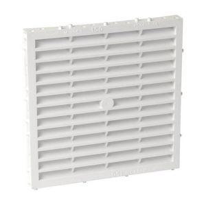 Nicoll Grille façade carrée à combinaison moust.150cm² blanc M164 -