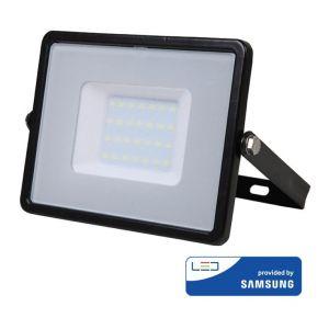 V-TAC Projecteur LED 30W Boitier Noir IP65 Samsung Chip | blanc-chaud-3000k