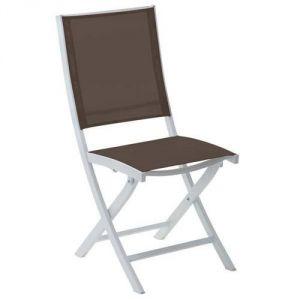 Wilsa Bali - Chaise de jardin pliante en aluminium et textilène