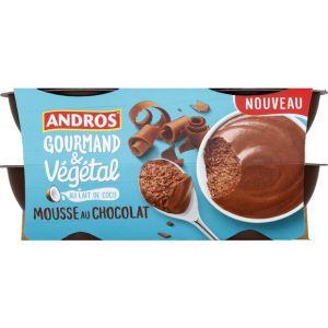 Andros Mousse au lait de coco et au chocolat