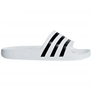 Adidas Adilette Aqua, Chaussures de Plage & Piscine Mixte Adulte, Blanc (Core Black/Ftwr White)), 42 EU