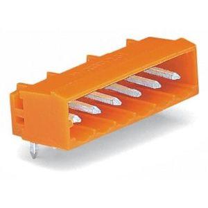 Wago 231-566/001-000 - Embase mâle coudée à 90° à souder 6 pôles pas 5.08 mm en emballage industriel de 100 pc(s)