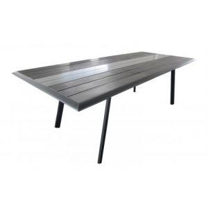 Proloisirs Lize - Table de jardin rectangulaire extensible en aluminium  180/240 x 100 x 74 cm - Comparer avec Touslesprix.com