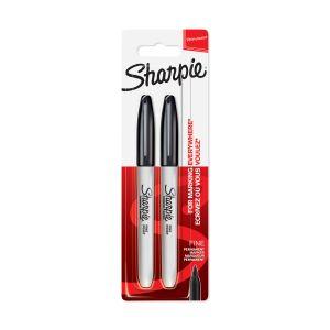 Sharpie 2 marqueurs permanents, pointe fine, encre noire