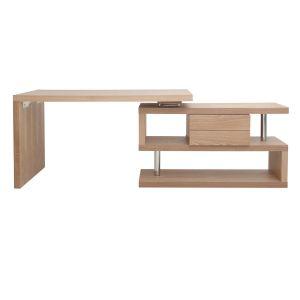 Miliboo Bureau design modulable avec rangement 2 tiroirs amovible bois MAX