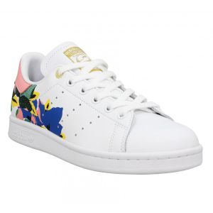Adidas Stan Smith cuir Femme-38 2/3-Blanc Rose Or