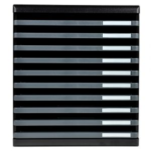 Exacompta 304714D - MODULO A4 ouvert ECOBlack, 10 tiroirs (10x h.26), coloris noir