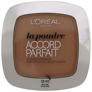 L'Oréal Accord Parfait D.3. Beige Doré - Poudre fondante perfectrice et bienfaisante
