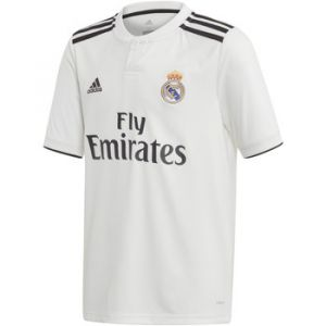 Adidas T-shirt enfant Maillot domicile junior Real Madrid 2018/19 blanc - Taille 11 / 12 ans,13 / 14 ans,15 ans,7 / 8 ans,9 / 10 ans
