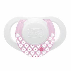 Chicco Sucette Physio Active en silicone avec boîte de protection stérilisable (0 mois +)