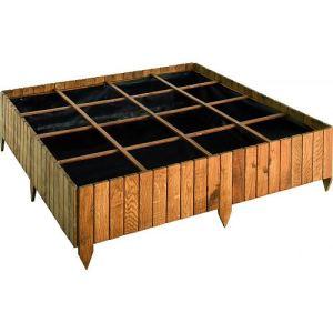 Jardipolys 0101000 - Carré potager Potimarron 120 en chêne 123 x 123 x 35 cm