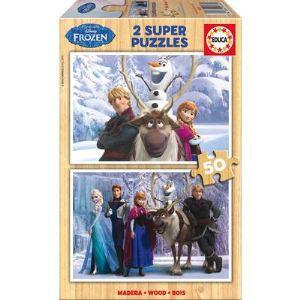 Educa La Reine Des Neiges - Puzzle 2 x 50 pièces