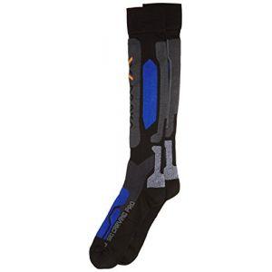 X-Bionic Ski Carving Pro Chaussettes bleu/noir 39/41 Chaussettes sports d'hiver