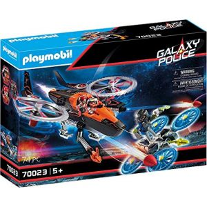 Playmobil Hélicoptère et Pirates de l'Espace - 70023