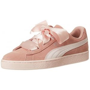 Puma Suede Heart Jewel Jr, Sneakers Basses Fille, Rose, 39 EU