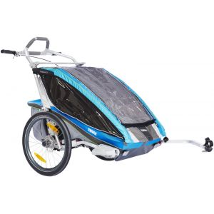 Thule Chariot CX2 + set vélo - Remorque vélo - bleu Remorques pour enfant