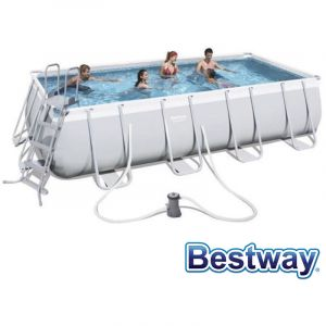 Bestway Piscine tubulaire rectangule power steel frame pools 5.49 x 2.74 x h.1.22m