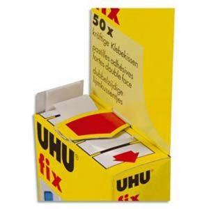 UHU 48805 - Pastilles adhésives fix double face blanc