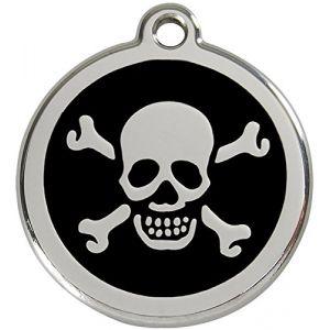 Les animaux de la fée Médaille personnalisable motif Tête de mort ø30 mm