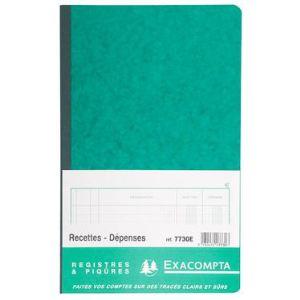 Exacompta Registre comptable pour recette ou depense (320 x 195 mm)
