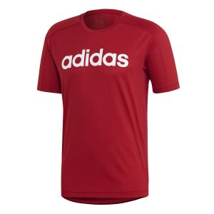 Adidas Tshirt Design 2 Move Climacool Logo Rouge - Taille L