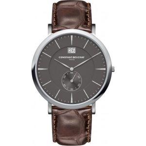 Beuchat CB0070 - Montre pour homme avec bracelet en cuir