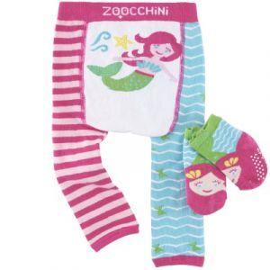 Image de Zoocchini Legging et chaussettes Marietta sirène (12-18 mois)