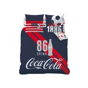 Parure housse de couette football 86 Sport Coca Cola (240 x 220 cm)
