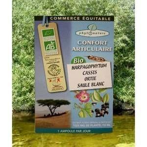 Naturland Ampoules de plantes harpagophytum+cassis+ortie+saule blanc.