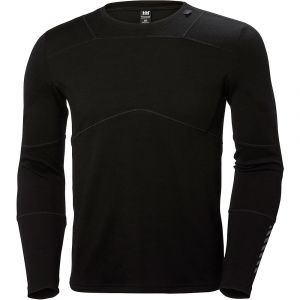 Helly Hansen HH LIFA Merino Crew LS Baselayer Homme, Black, FR : L (Taille Fabricant : L)