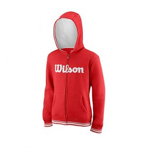 Wilson Sweatshirts Team Script Full Zip Hooded Red / White - Taille XS