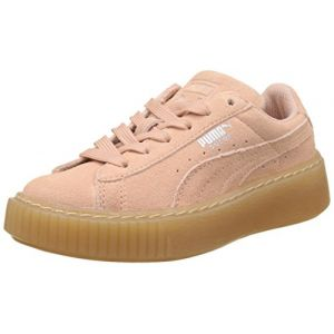 Puma Suede Platform Jewel PS Sneakers Basses Mixte Enfant, Peach Beige, 30 EU