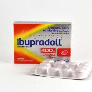 Sanofi ibupradoll 400 mg - capsule molle - boite de 10