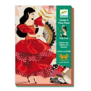 Djeco Set créatif couture Cartes à frou-frous Flamenco