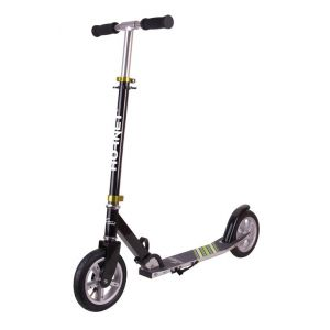 Hudora Hornet Scooter Air 200 Noir/Vert 14532 City Roller avec pneus à air