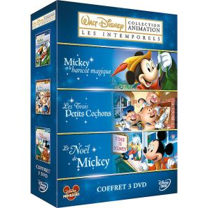 Coffret Disney Animation : Les Intemporels - Les 3 petits Cochons + Mickey et le haricot magique + Le Noël de Mickey