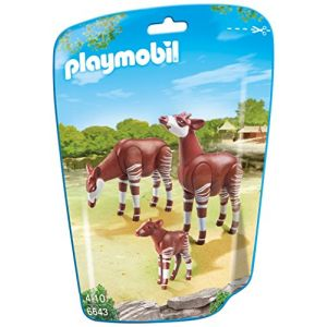 Playmobil 6643 City Life - Sachet couple d'okapis avec bébé