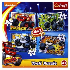 Trefl 4 Puzzles - Blaze and the Monster Machines