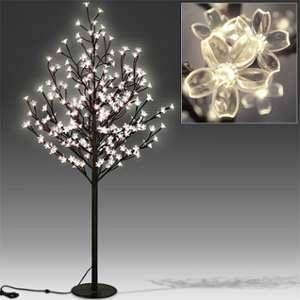 Deuba Arbre Cerisier Lumineux 200 LEDs 180cm pour Intérieur Extérieur Décoration fêtes