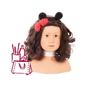 Gotz 4001269921576 Tête à coiffer Ladybug brune