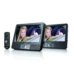 """Lenco MES-404 - Lecteur DVD portable avec 2 écrans 9"""" USB"""