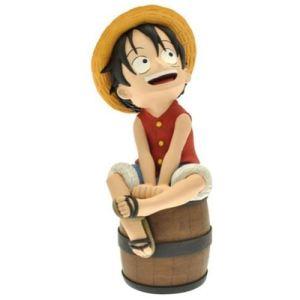 Plastoy Tirelire One Piece Luffy sur son tonneau