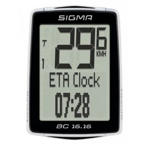Image de Sigma BC 16.16 Ordinateur de vélo - Noir / Blanc